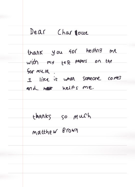 letter to charlotte