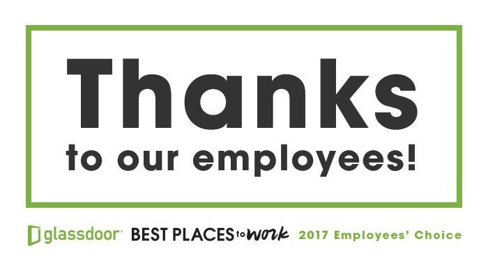 Glassdoor employer thank you logo