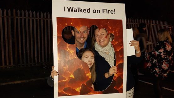 Firewalking for charity