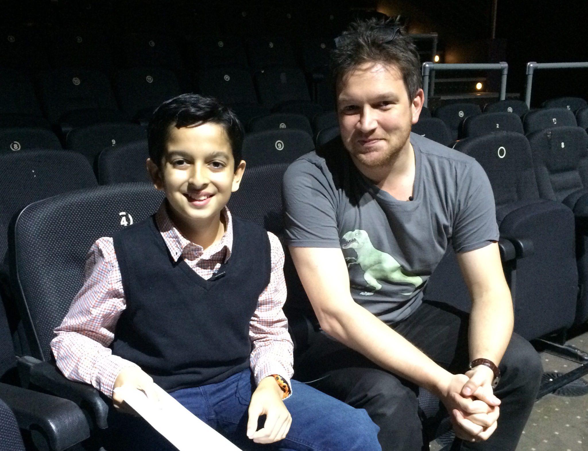 Samir and Dr Ben Garrod