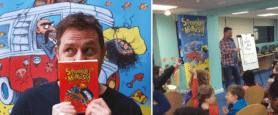 Author Steve Webb in the Explore Learning classroom