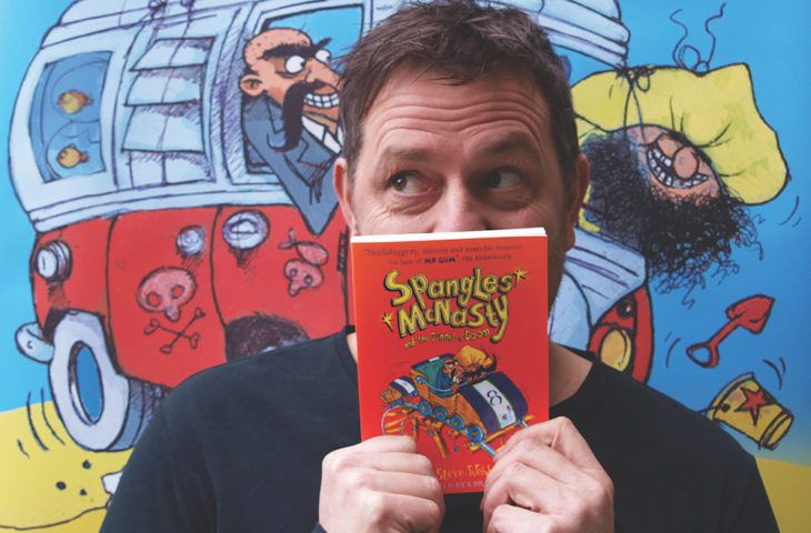 Author Steve Webb with his book