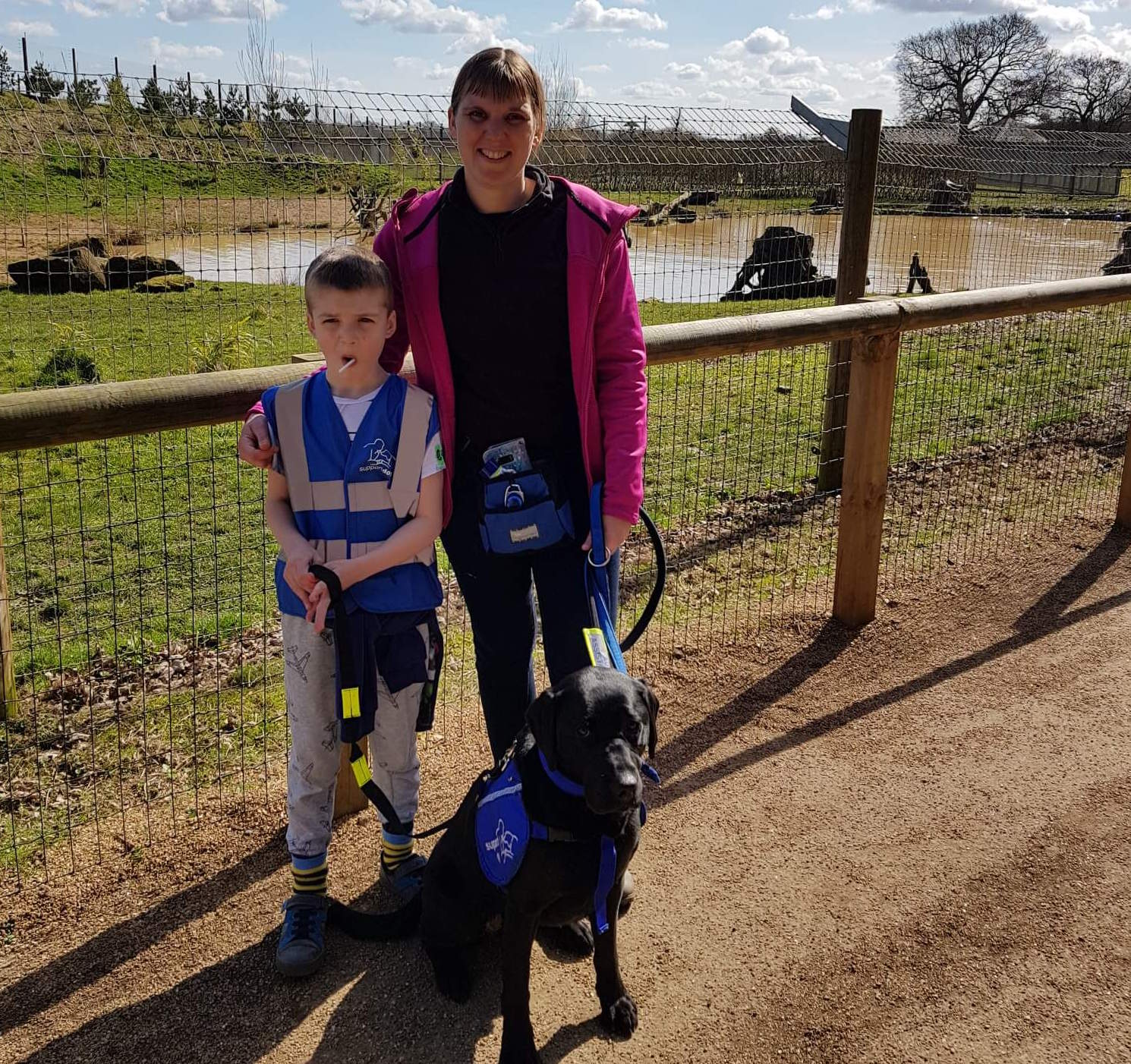 Supporting children with autism - Sam with autism support dog