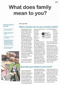 Infographic: 'What does family mean to you?'