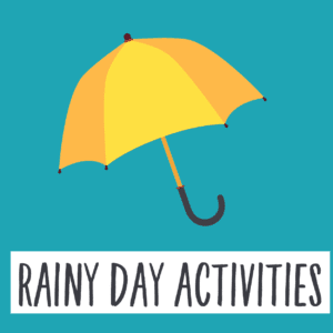 Rainy day activities button