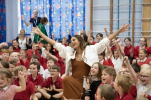 Alesha Dixon at Haslingfield Primary School