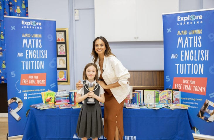 Alesha Dixon with Explore Learning Writer of the Year Farrah