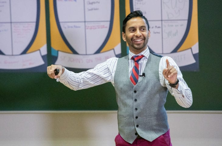 Bobby Seagull teaching maths