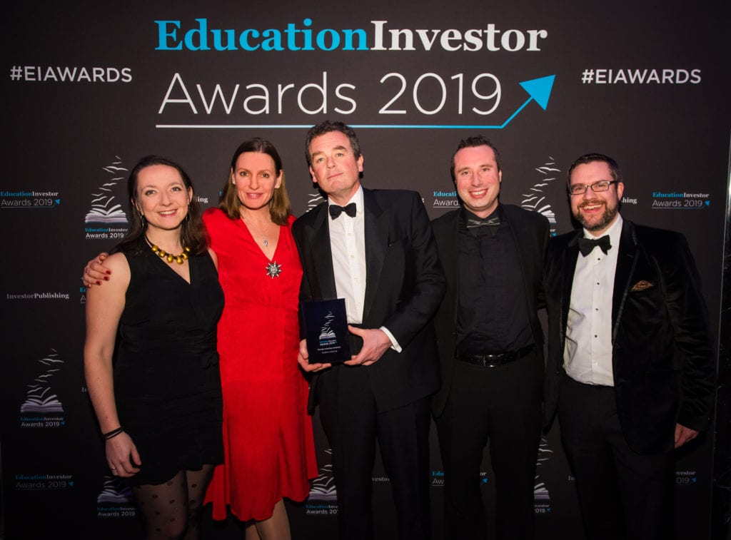 Explore Learning team with the EducationInvestor Award