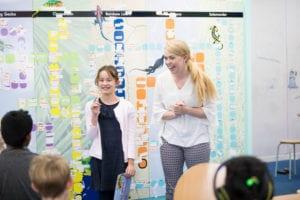 Child's progress - student presenting with tutor