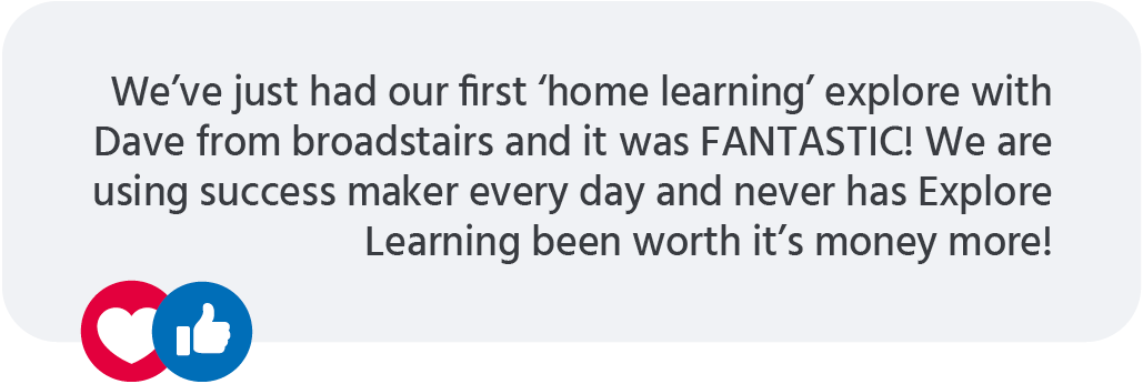 Explore Learning testimonial from Mumsnet