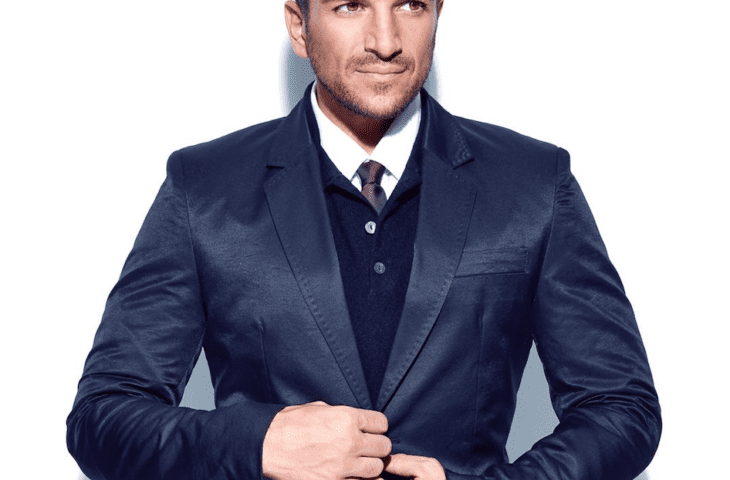 Peter Andre wearing a suit