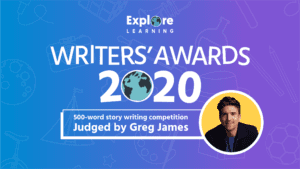 Explore Learning Writer's Awards 2020 banner with Greg James
