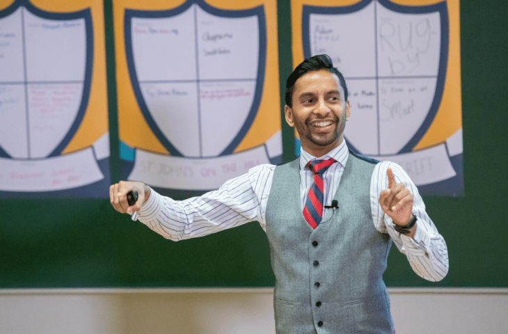 Bobby Seagull teaching us about the magic of numbers