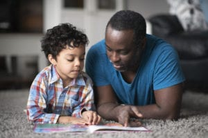 Father talking to his son about racism
