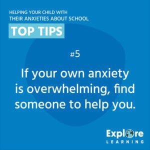 School anxiety tip banner