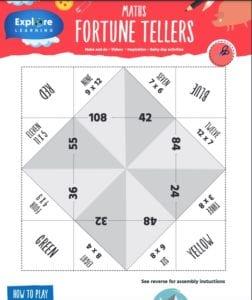ks2 maths fortune teller game