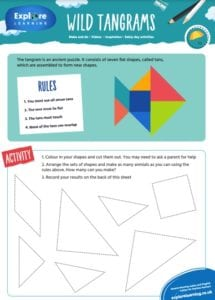 ks2 maths Tengram puzzles