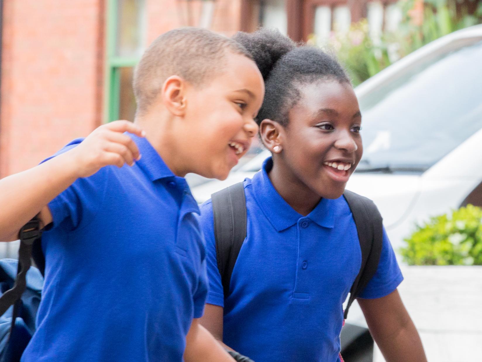 Children returning back to school